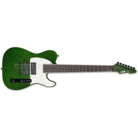 LTD ESP LTD Stephen Carpenter Signature Series 607 Green Sparkle Baritone Electric Guitar