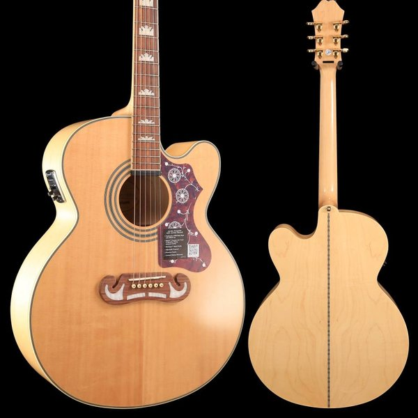 Gibson Epiphone EEJ2NAGH1 EJ-200ce Natural Gold Hardware