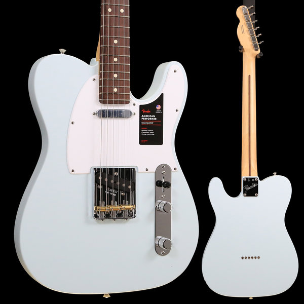 Fender Fender American Performer Telecaster, Rw, Satin Sonic Blue US19006330 7lbs 7.2oz