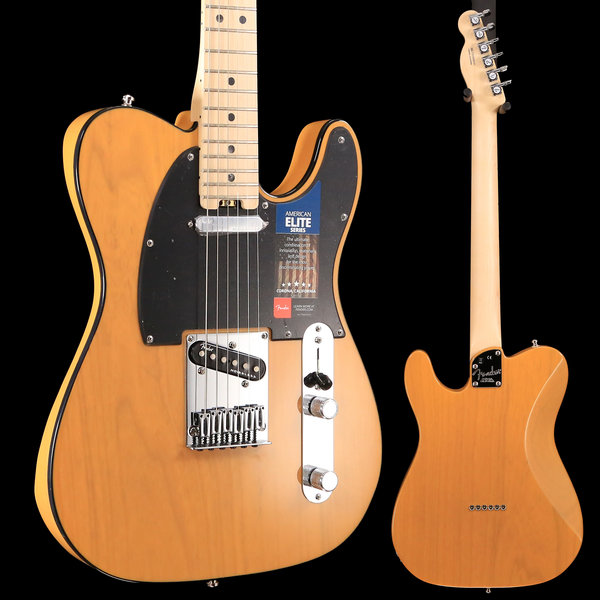 Fender American Elite Telecaster, Maple Fingerboard, Butterscotch Blonde S/N US18089141