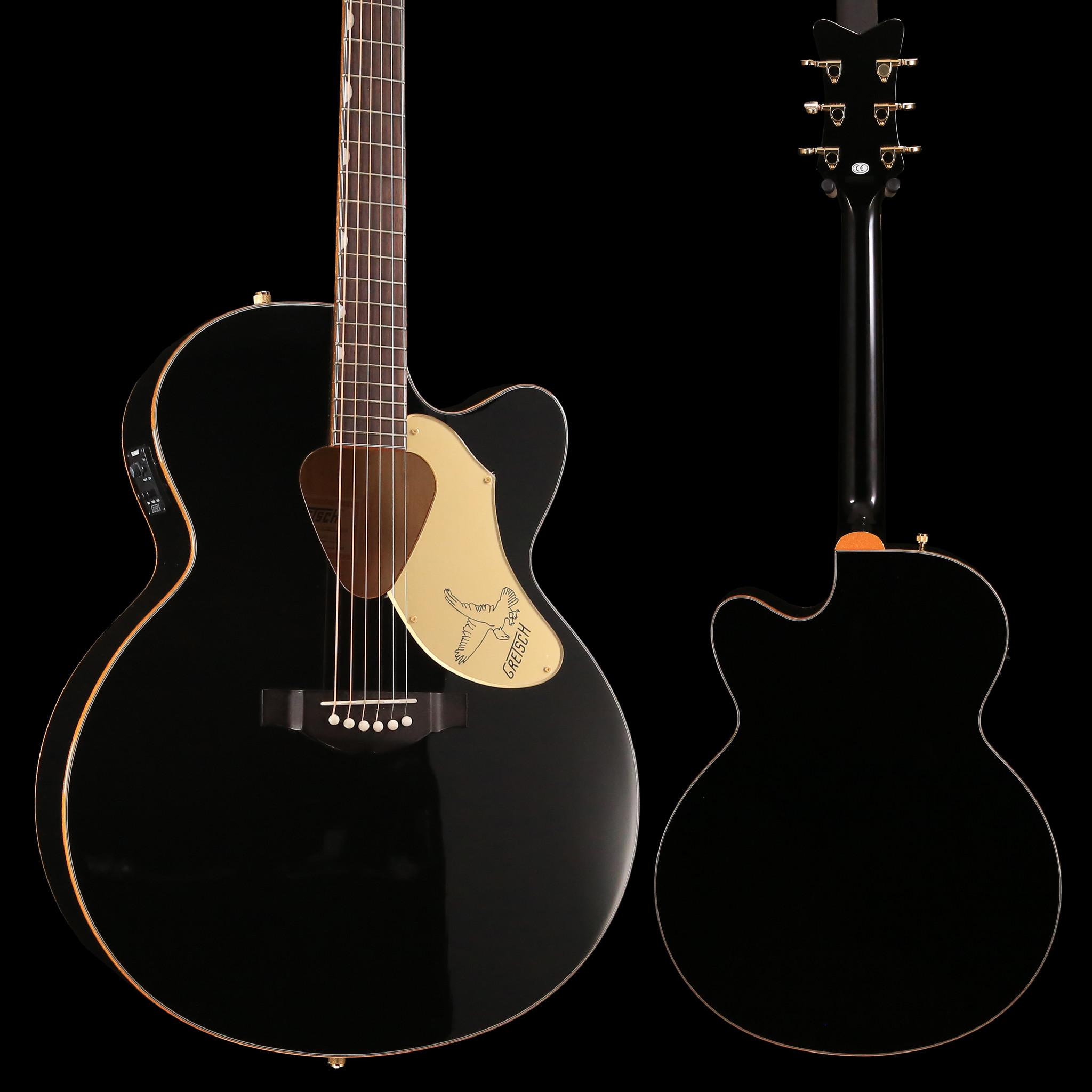 Gretsch Acoustic Guitars >> Gretsch G5022cbfe Rancher Falcon Jumbo Cutaway Acoustic Electric Black