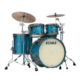 TAMA TAMA Starclassic Maple 4-piece shell pack Flat Steel Blue Metallic