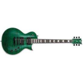 LTD ESP LTD EC-1000 Flame Maple See-Thru Green Left Handed Electric Guitar with Seymour Duncan Pickups