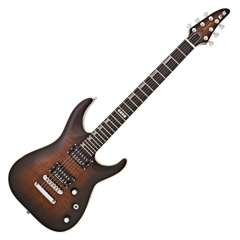 ESP E-II Horizon Series Flame Maple Natural Top Dark Brown Sunburst Electric Guitar
