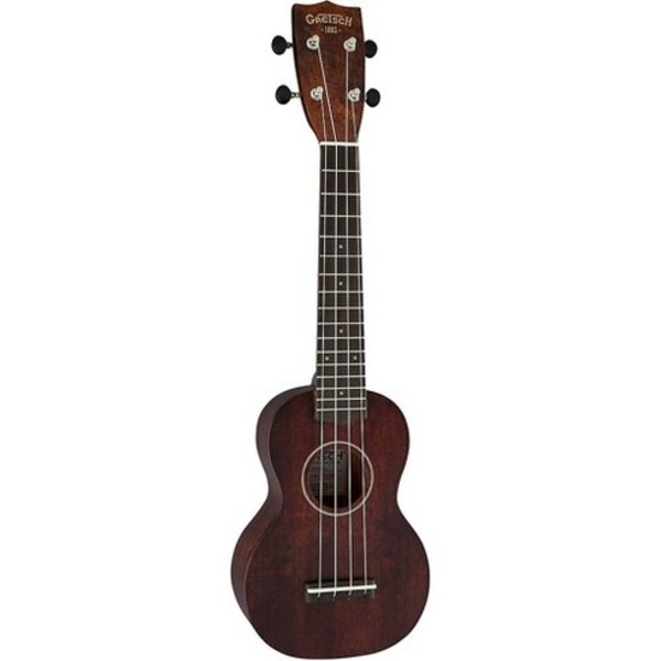 Gretsch Guitars Gretsch G9100-L Soprano Long-Neck Ukulele with Gig Bag, Ovangkol Fingerboard, Vintage Mahogany Stain