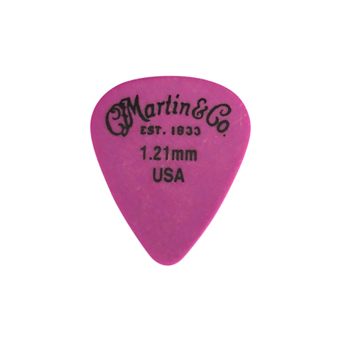 Martin 18AP5121 Pick, Standard, Delrin, 1.21mm, Purple, HG