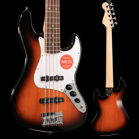 Squier Fender Affinity Series Jazz Bass V, Laurel Fingerboard, Brown Sunburst