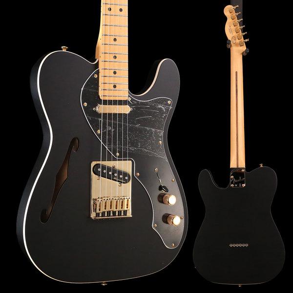 Fender Fender Ltd. Ed. Deluxe Tele Thinline, Maple Fingerboard, Satin Black w/ Gold Hardware S/N MX18182538