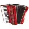 Hohner 1305-RED Compadre Accordion GCF, Black w/ Gig Bag
