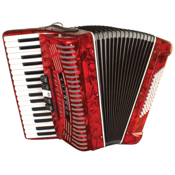 Hohner Hohner 1305-RED Compadre Accordion GCF, Black w/ Gig Bag