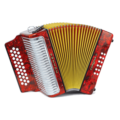 Hohner Corona II Accordion in Red Pearl