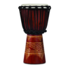 LP World Beat Wood Art Small Djembe, Red w/ Natural