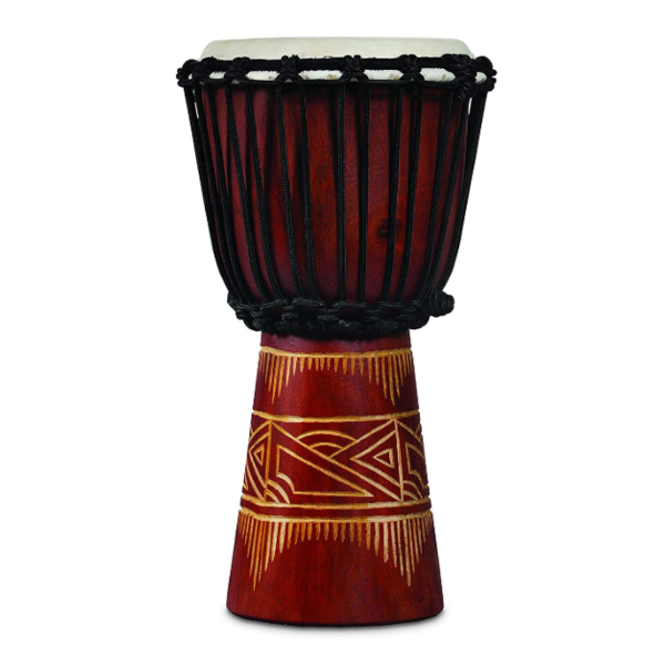 LP LP World Beat Wood Art Small Djembe, Red w/ Natural