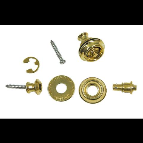 Dunlop SLS1032BR Dual Design Straplok Set Brass