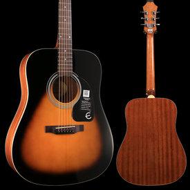 Gibson Epiphone EA10VSCH1 DR-100 Vintage Sunburst Chrome Hardware S/N 1805110936 4 lbs, 7.1 oz