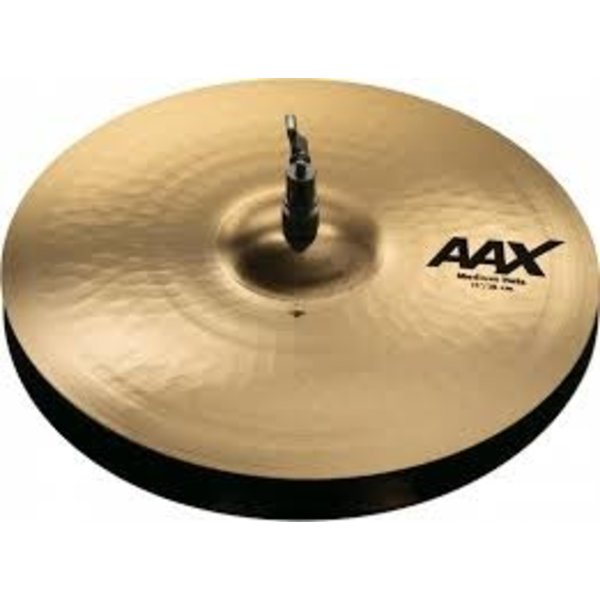 "Sabian Sabian AAX Medium Hi-hat Cymbals - 15"" - Brilliant"