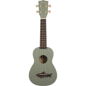 Makala Makala MK-SS/GRY Satin/Vintage Finish Shark Bridge/Shark Gray Soprano Ukulele