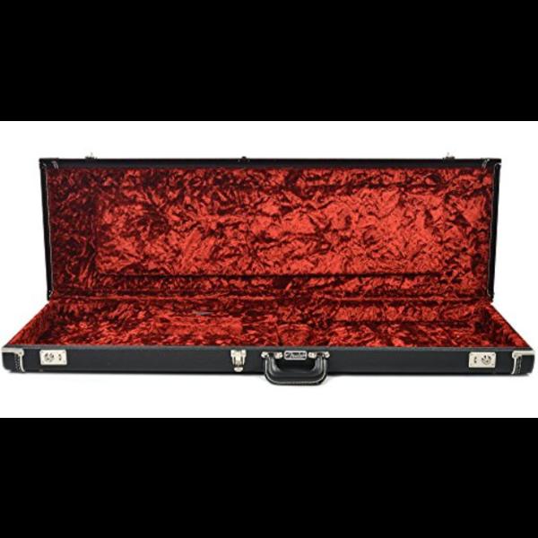 Fender Deluxe Bass VI Hardshell Case, Black with Red Crush Interior