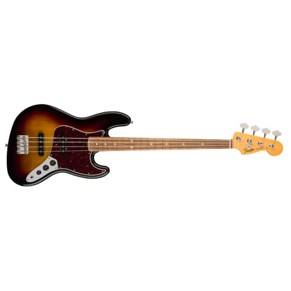 Fender 60s Jazz Bass Lacquer, Pau Ferro Fingerboard, 3-Color Sunburst
