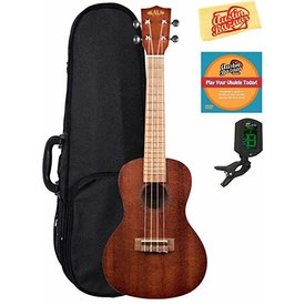 Kala Kala Concert Uke Satin/Mahogany/Mahogany No Binding W/ Ub Logo Bag, Strap, Strings & Tuner