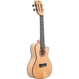 Kala Kala Concert Uke Satin/All Solid Flame Maple Cutaway