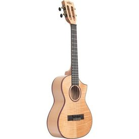 Kala Kala Tenor Uke Satin/All Solid Flame Maple Cutaway