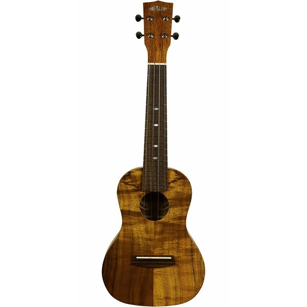 Kala Kala Concert Uke Satin/All Solid Koa W/Bag & D'Addario Humidifier