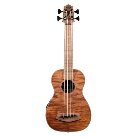 Kala Acoustic-Electric UBass Satin/Exotic Mahogany/Exotic Mahogany/Fretted Left Handed W/Bag