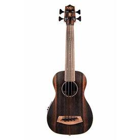 Kala Kala Acoustic-Electric UBass Satin/Striped Ebony/Striped Ebony/Fretted W/Bag