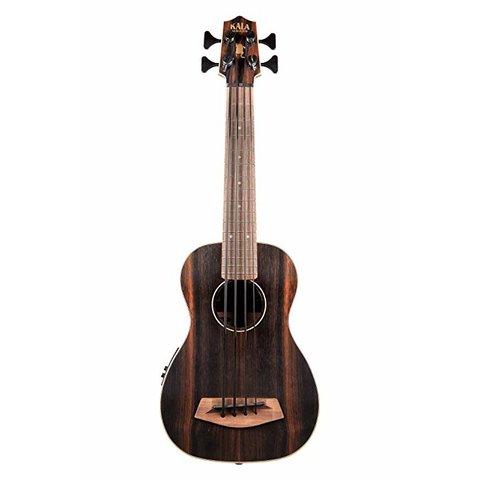 Kala Acoustic-Electric UBass Satin/Striped Ebony/Striped Ebony/Fretted W/Bag