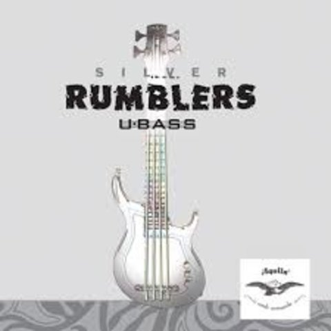 Kala All UBass Aquila Silver Rumblers UBass 4-String Set