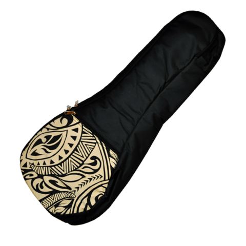 Kala Concert Cream Pattern Padded Ukulele Bag