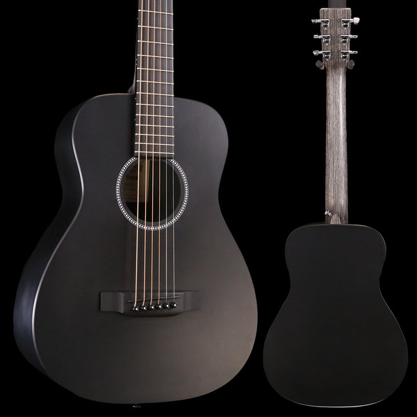 Martin Martin LX BLACK New Little Martin w/ Deluxe Bag S/N 319489 3 lbs, 7.8 oz