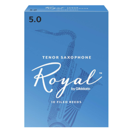 D'Addario Woodwinds (Previously Rico) Royal by D'Addario Tenor Sax Reeds, Strength 5.0, 10-pack
