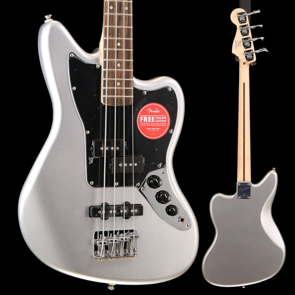 Squier Fender Vintage Modified Jaguar Bass Special SS, Laurel Fingerboard, Silver