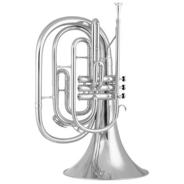 King King 1122SP Ultimate Series Bb Marching French Horn, Silver Plated