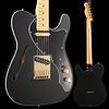 Fender Ltd. Ed. Deluxe Tele Thinline, Maple Fingerboard, Satin Black w/ Gold Hardware S/N MX18192264