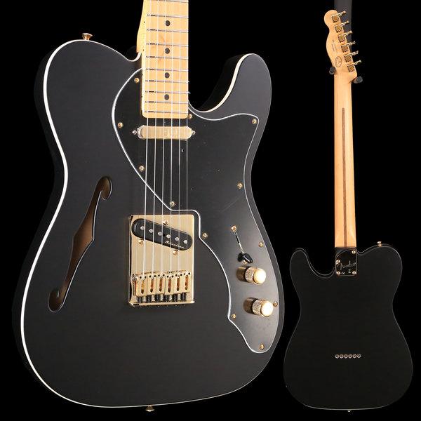 Fender Fender Ltd. Ed. Deluxe Tele Thinline, Maple Fingerboard, Satin Black w/ Gold Hardware S/N MX18192264