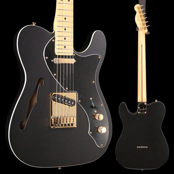 Fender Fender Ltd. Ed. Deluxe Tele Thinline, Maple Fingerboard, Satin Black w/ Gold Hardware S/N MX18183952