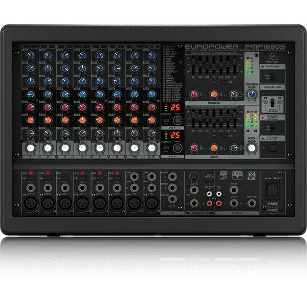 Behringer Behringer PMP1680S 1600W 10-Channel Mixer, M-FX
