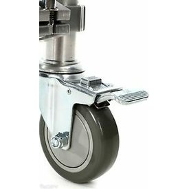 DW DROPSHIP DW Rack Casters Single Brake (Pair) Chrome DWCPRKCAST