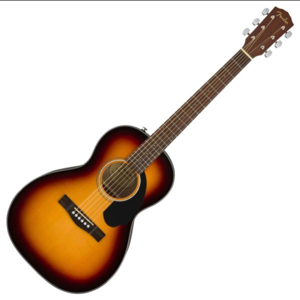 Fender Fender CP-60S Parlor, Walnut Fingerboard, 3 Tone Sunburst