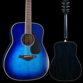 Yamaha Yamaha FG820 SB Sunset Blue Folk Guitar Solid Top Mahogany Back & Sides
