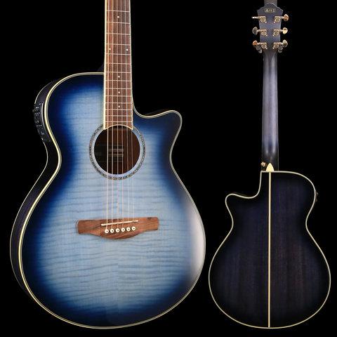 Ibanez AEG20IIIBB AE Series - Indigo Blue Burst Gloss S/N PW181100688 4 lbs, 7.1 oz