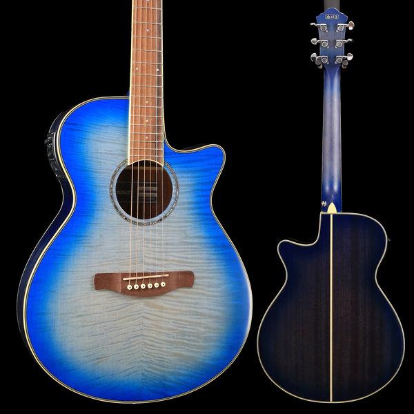 Ibanez Ibanez AEG19IIOBB AE Series - Ocean Blue Burst Gloss S/N PW181100482 4 lbs, 7.3 oz