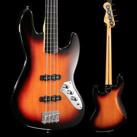Squier Vintage Modified Jazz Bass Fretless, Ebonol Fingerboard, 3-Color Sunburst - Used