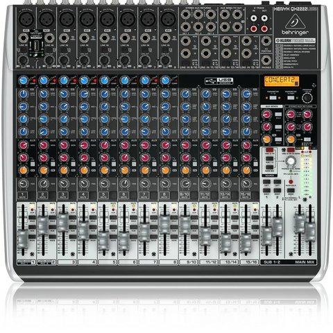 Behringer QX2222USB 22-Input 2/2-Bus Mixer, XENYX