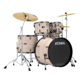 TAMA Tama Imperialstar 5Pc Kit w/ Meinl Cymbals In Ltd Ed White Birch Wrap