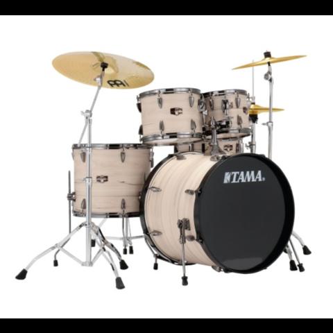 Tama Imperialstar 5Pc Kit w/ Meinl Cymbals In Ltd Ed White Birch Wrap