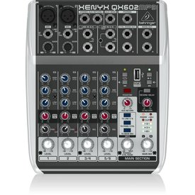 Behringer Behringer QX602MP3 6-Input 2-Bus Mixer, XENYX/EQ
